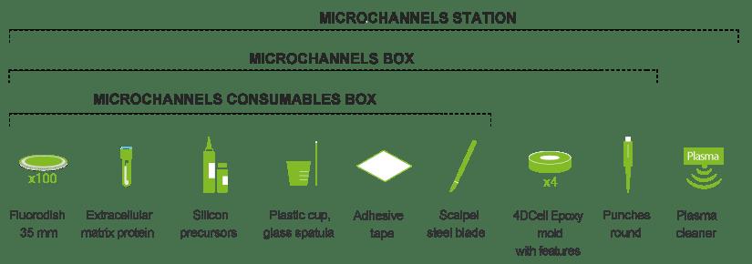 Microchannels fabrication kit content